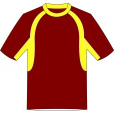 Cicada Training Tee - Maroon/Yellow